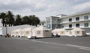 Hospital Temporal del IMSS en el Autódromo Hermanos Rodríguez